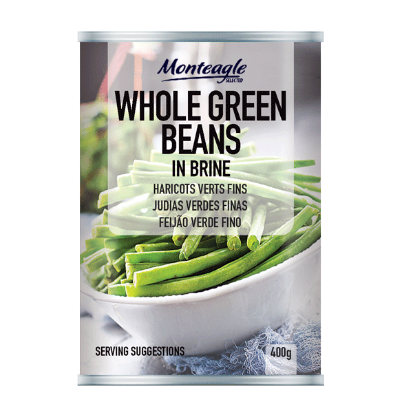 whole green beans in brine regular can g monteagle brand simpplier