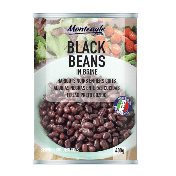 black beans in brine easy open can g monteagle brand simpplier