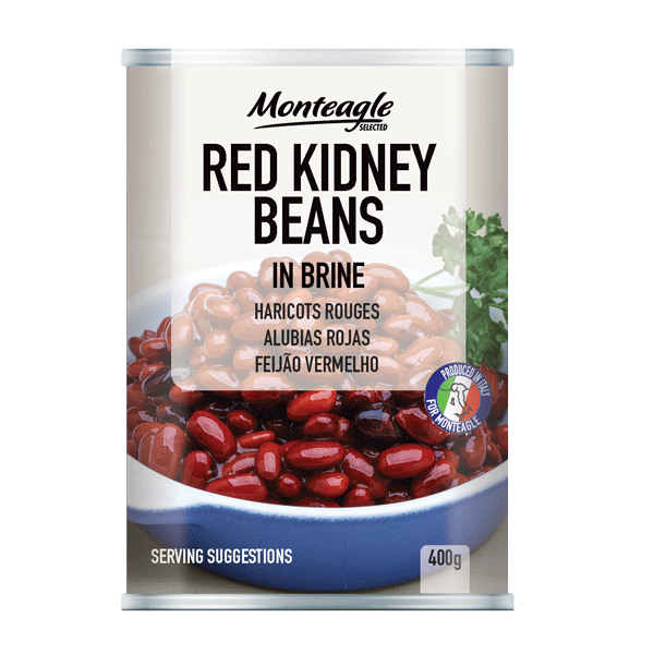 red kidney beans in brine easy open can g monteagle brand simpplier