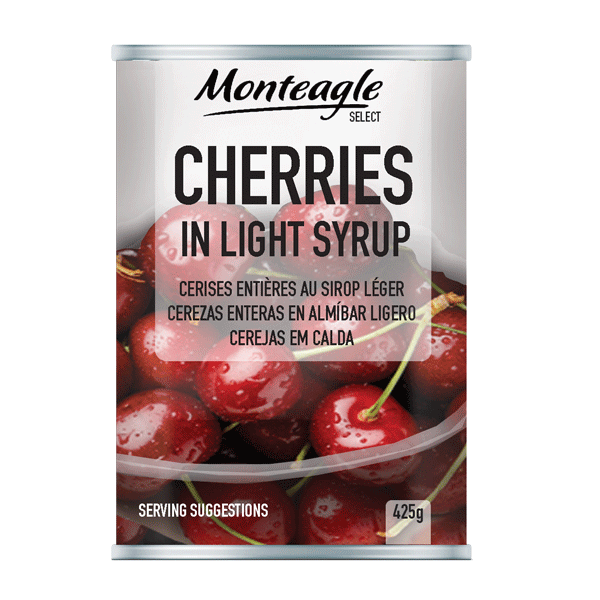 cherries in light syrup easy open can g monteagle brand simpplier
