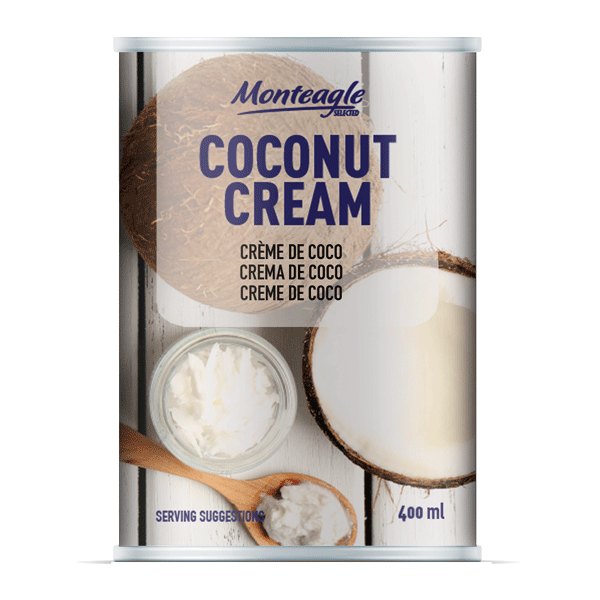 coconut cream     fat regular can ml monteagle brand simpplier
