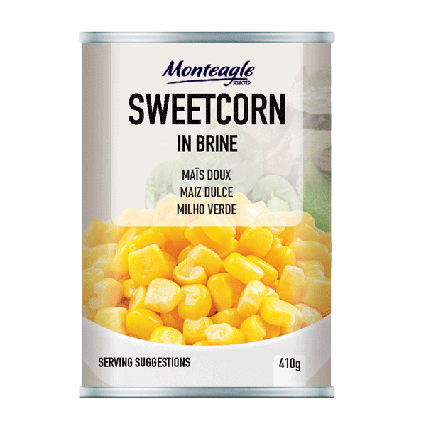 sweetcorn in brine regular can g monteagle brand simpplier