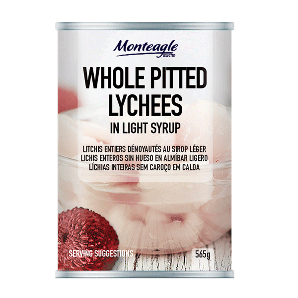 whole pitted lychees in light syrup regular can g monteagle brand simpplier