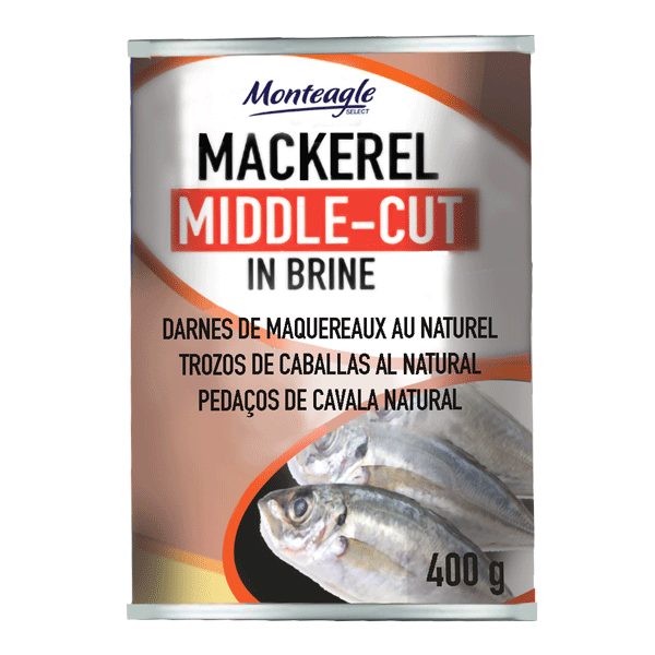middle cut mackerel in brine regular can g monteagle brand simpplier
