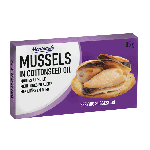 mussels in cottonseed oil easy open can g monteagle brand simpplier
