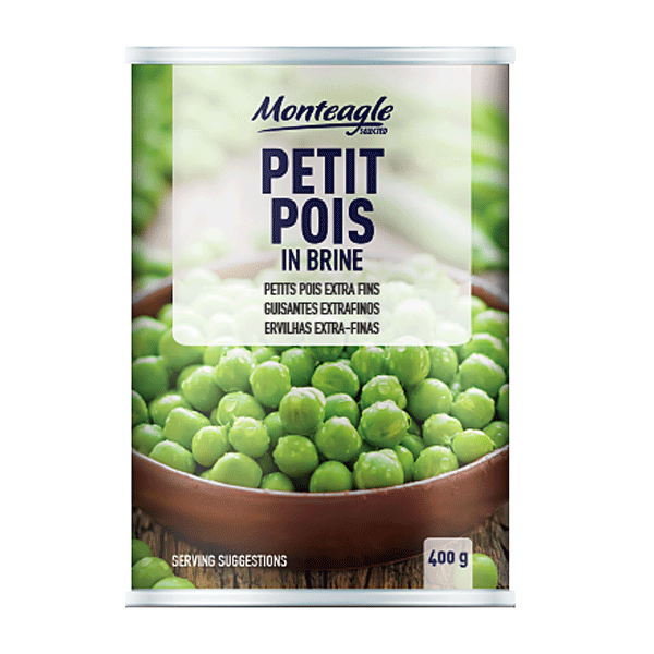 petit pois in brine regular can g monteagle brand simpplier