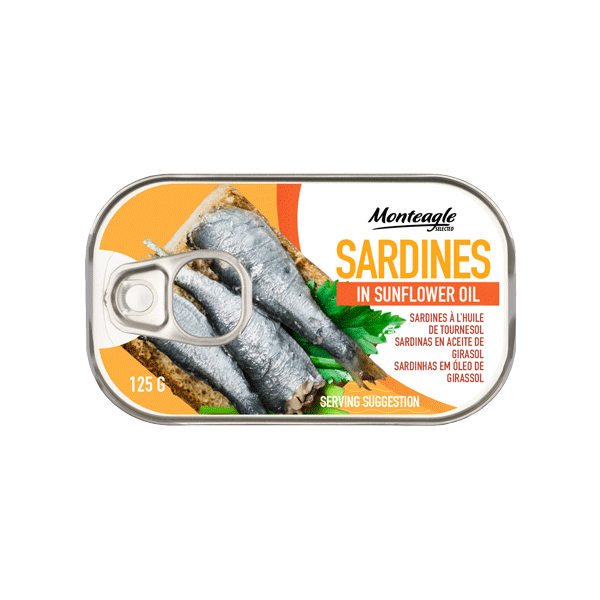 sardines in sunflower oil easy open clubcan g monteagle brand simpplier