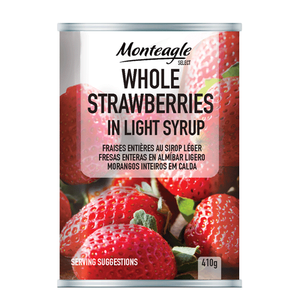 whole strawberries in light syrup regular can g monteagle brand simpplier