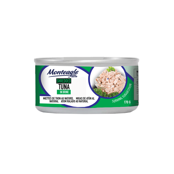 shredded tuna in brine regular can g monteagle brand simpplier