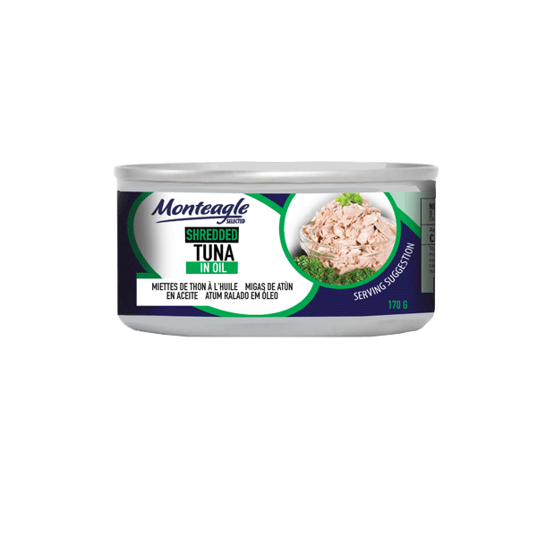 shredded tuna in oil regular can g monteagle brand simpplier