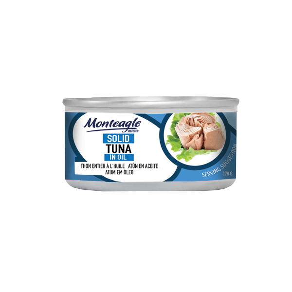 tuna solid in oil regular can g monteagle brand simpplier
