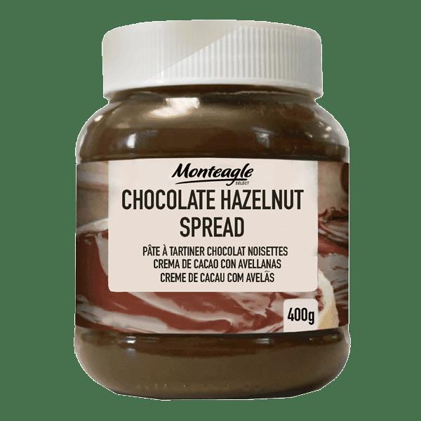 chocolate  hazelnut spread  oval glass jar g monteagle brand simpplier