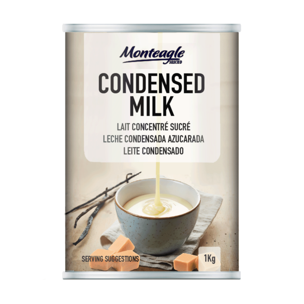 sweetened condensed  fat filled milk regular can kg monteagle brand simpplier