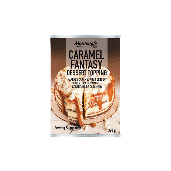 caramel fantasy dessert topping regular can g monteagle brand simpplier
