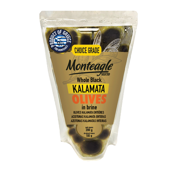 whole kalamata olives in brine doy pack g monteagle brand simpplier