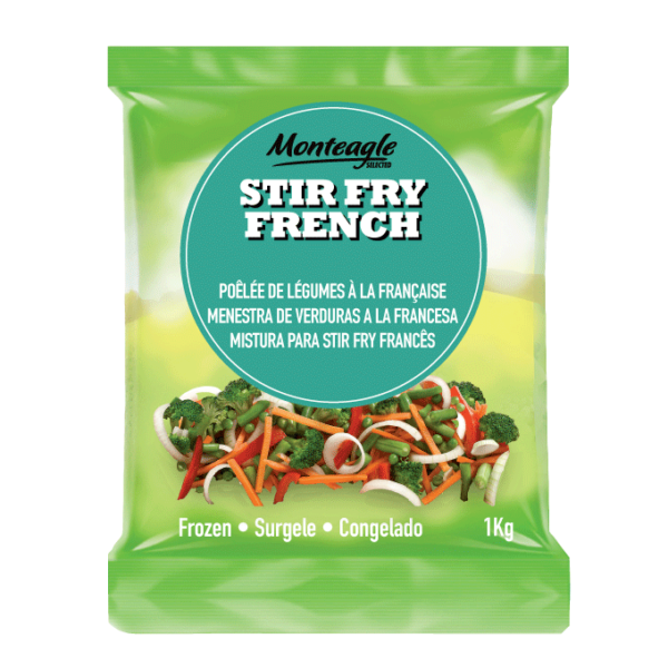 frozen stir fry french bag kg monteagle brand simpplier