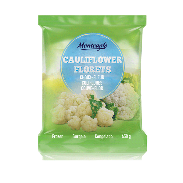 frozen cauliflower bag g monteagle brand simpplier