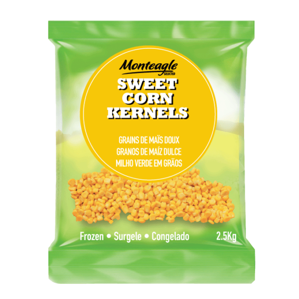 frozen yellow corn kernels bag