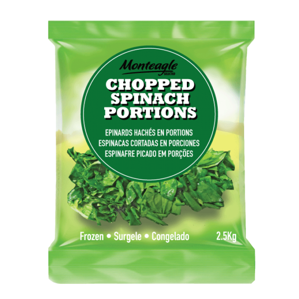 frozen chopped spinach portions bag
