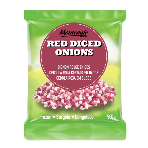 frozen red diced onions bag g monteagle brand simpplier