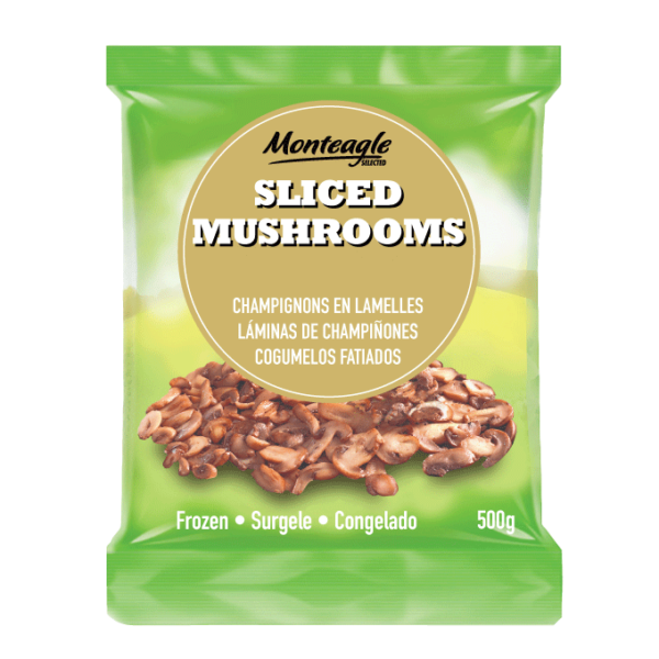 frozen sliced mushrooms bag g monteagle brand simpplier