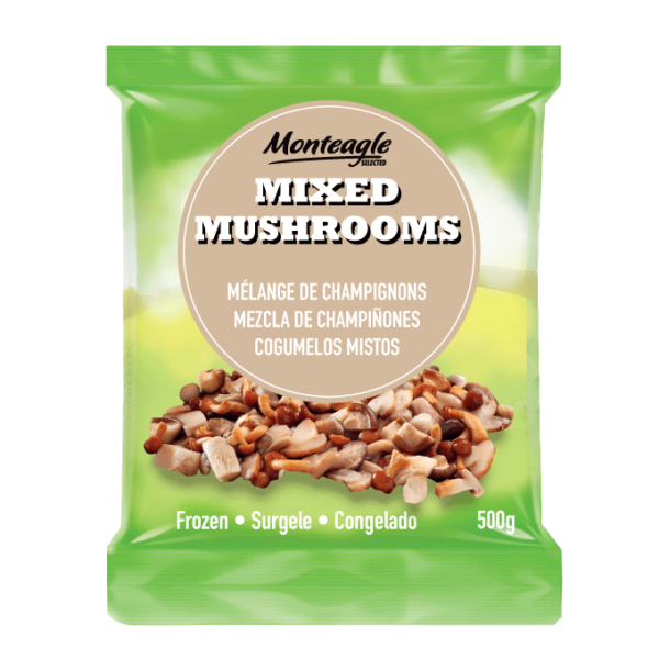frozen mixed mushrooms bag g monteagle brand simpplier