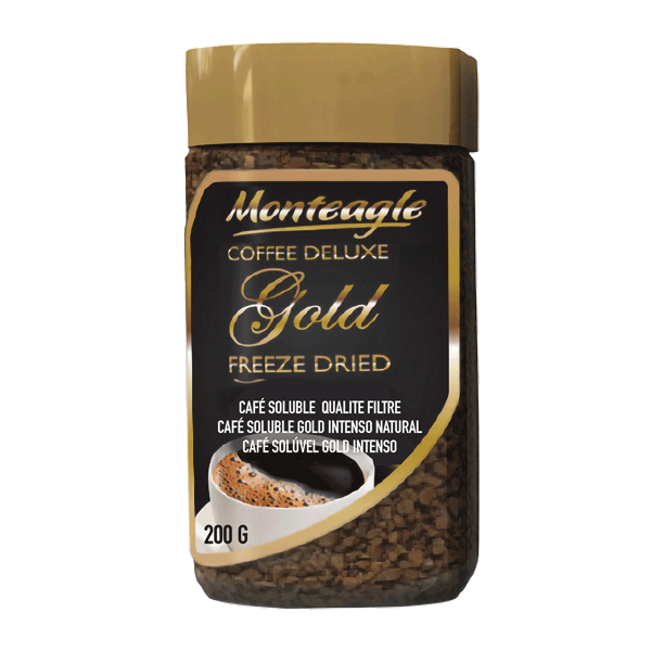 freeze dried instant coffee jar g monteagle brand simpplier