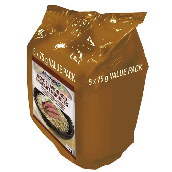 instant noodles beef flow wrap  g  pack monteagle brand simpplier