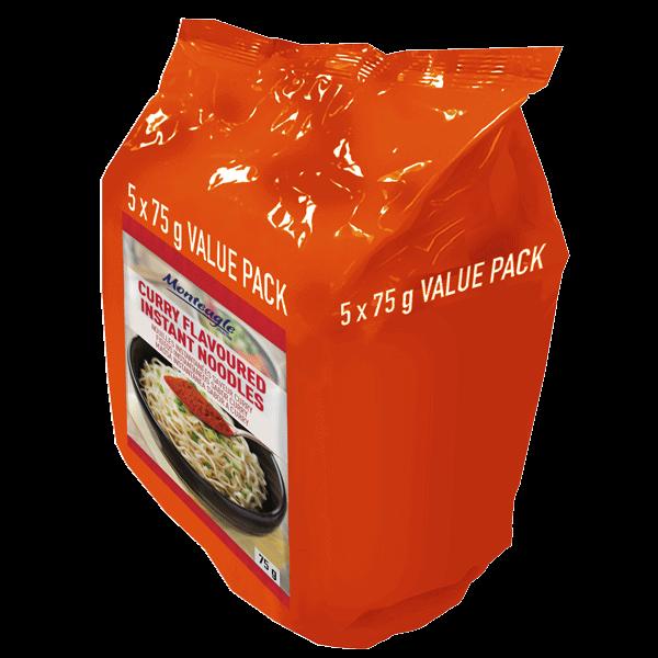 instant noodles curry flow wrap  g  pack monteagle brand simpplier