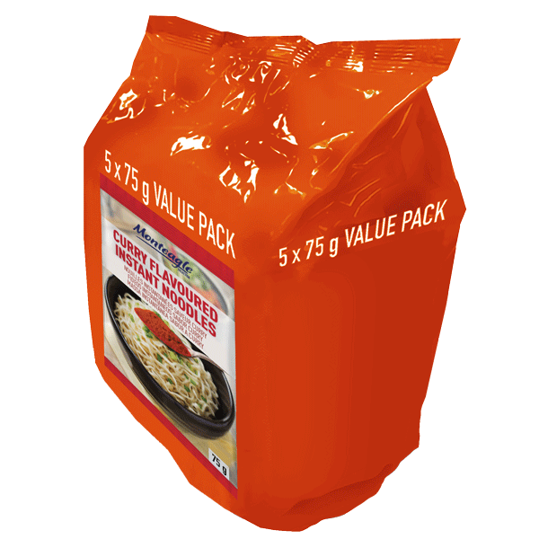 instant noodles curry flow wrap  g  pack monteagle brand simpplier