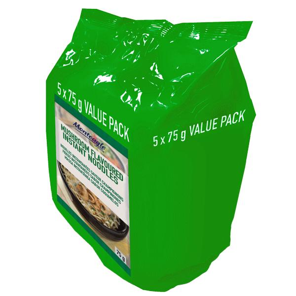 instant noodles mushroom flow wrap  g  pack monteagle brand simpplier