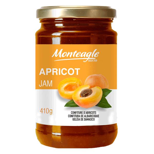 apricot jam  fruits glass jar g monteagle brand simpplier