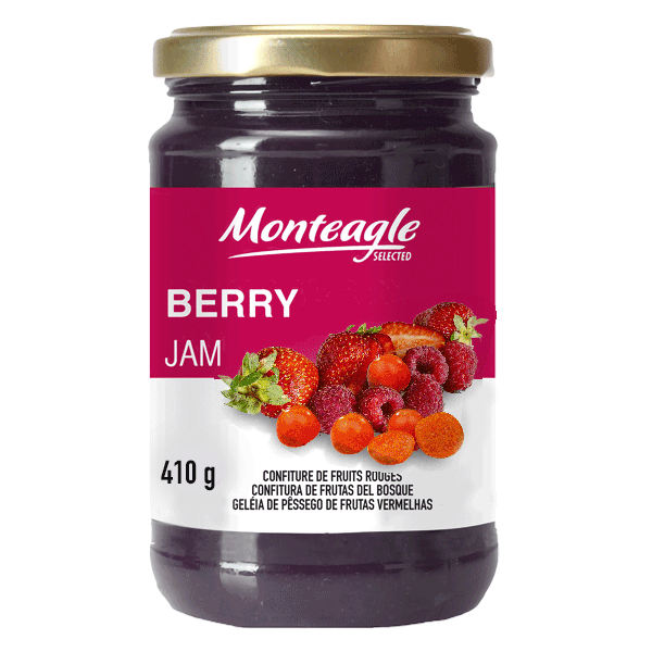 red fruits jam  fruits glass jar g monteagle brand simpplier