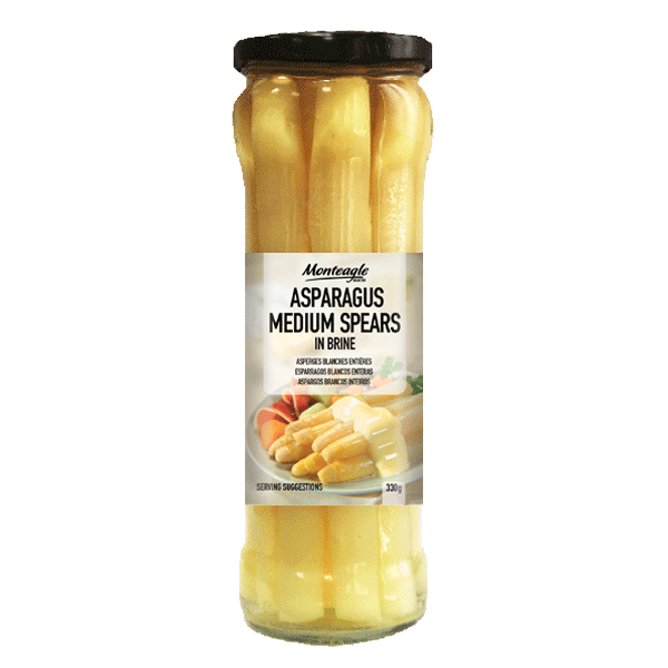 white asparagus medium spears glass jar g monteagle brand simpplier