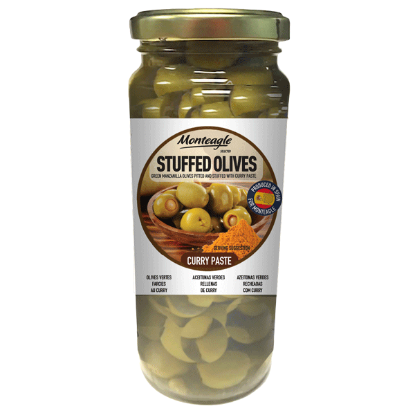 stuffed olives curry glass jar g monteagle brand simpplier
