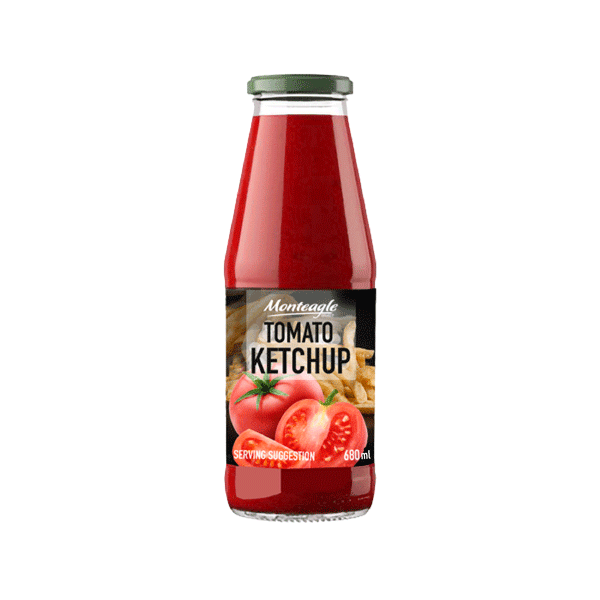 tomato ketchup glass bottle ml monteagle brand simpplier