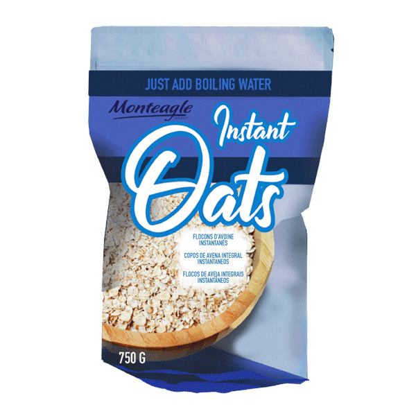 instant oats stand up bag g monteagle brand simpplier