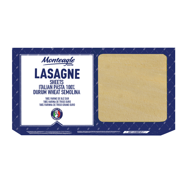 italian lasagne sheets  durum wheat carton box g monteagle brand simpplier