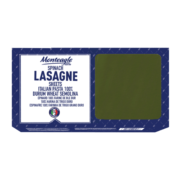 spinach italian lasagne sheets durum wheat carton box g monteagle brand simpplier