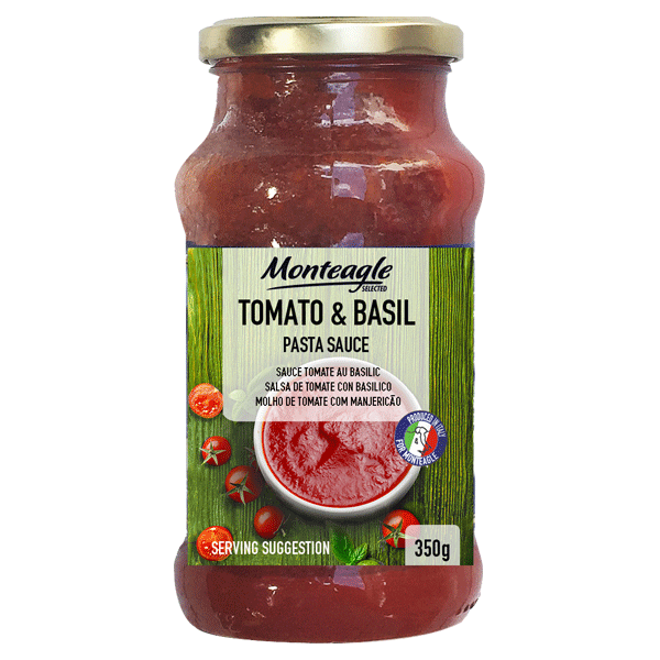 italian tomato and basil pasta sauce glass jar g monteagle brand simpplier