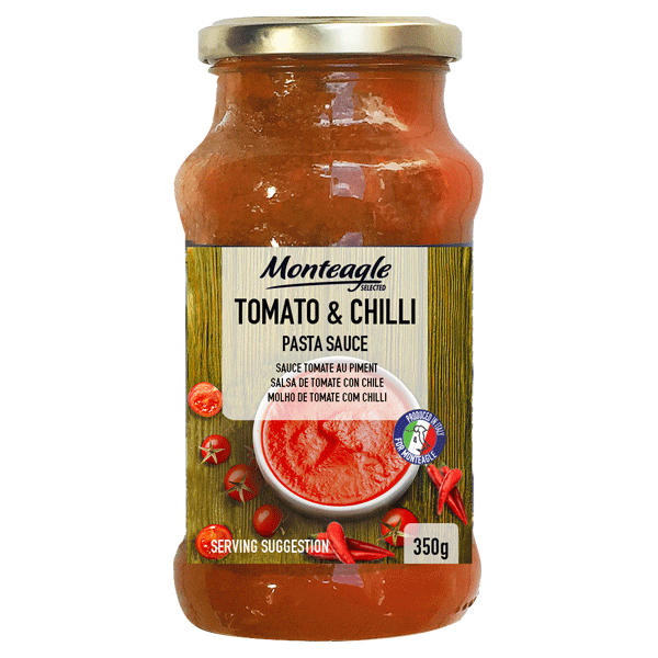 italian tomato and chilli pasta sauce glass jar g monteagle brand simpplier