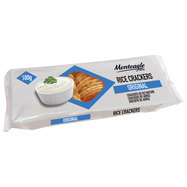rice crackers original flow wrap monteagle brand simpplier