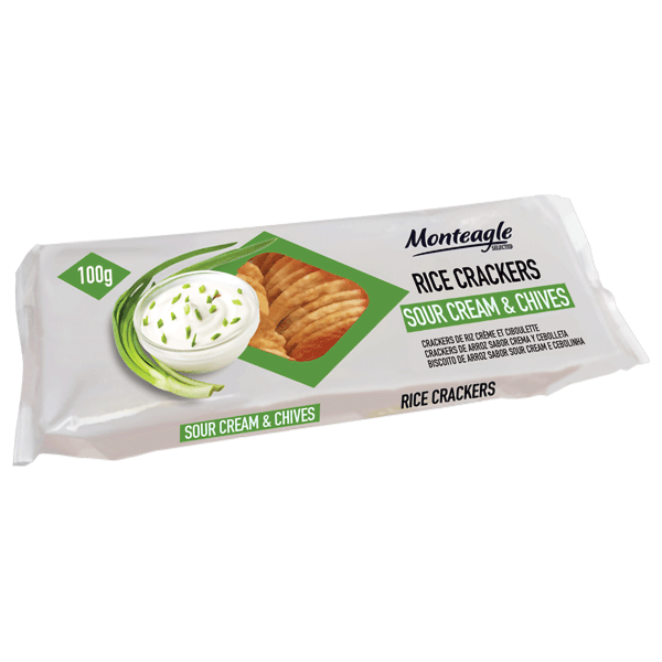 rice crackers sour cream and chives flow wrap g monteagle brand simpplier