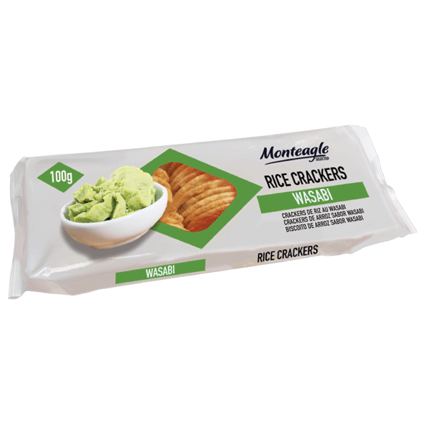 rice crackers wasabi flow wrap g monteagle brand simpplier