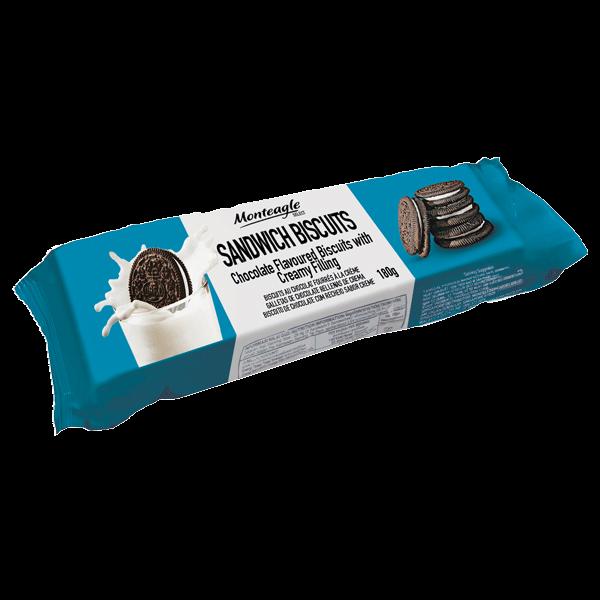 premium oreo style cream biscuit flow wrap g monteagle brand simpplier