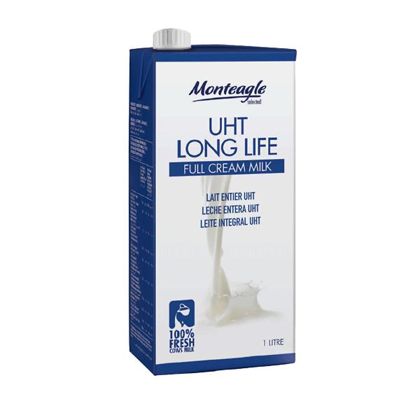 uht long life full fat milk brick liter.