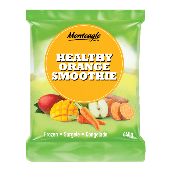 frozen healthy orange smoothie bag 640g monteagle brand simpplier