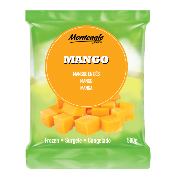 frozen mango bag 500g monteagle brand simpplier