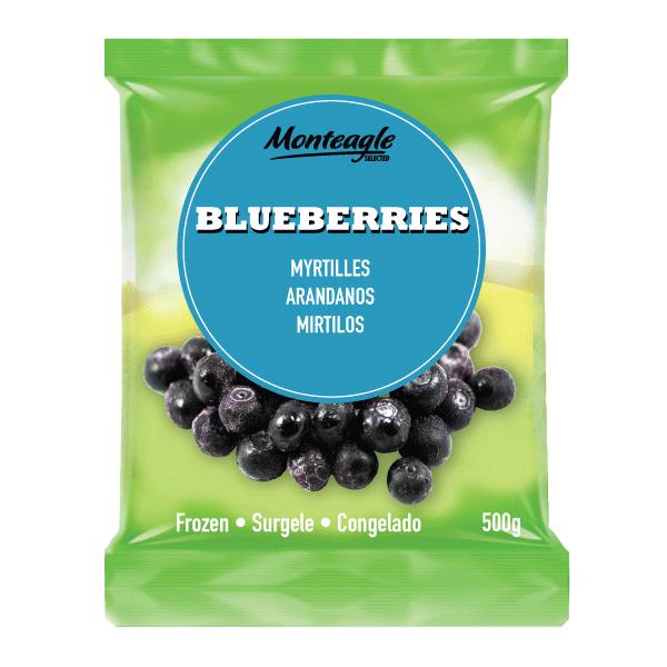 frozen blueberries bag 500g monteagle brand simpplier