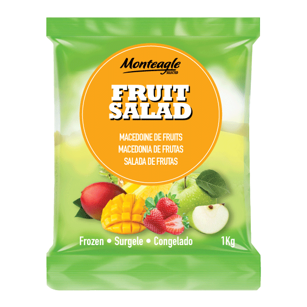 frozen fruit salad bag 1kg monteagle brand simpplier